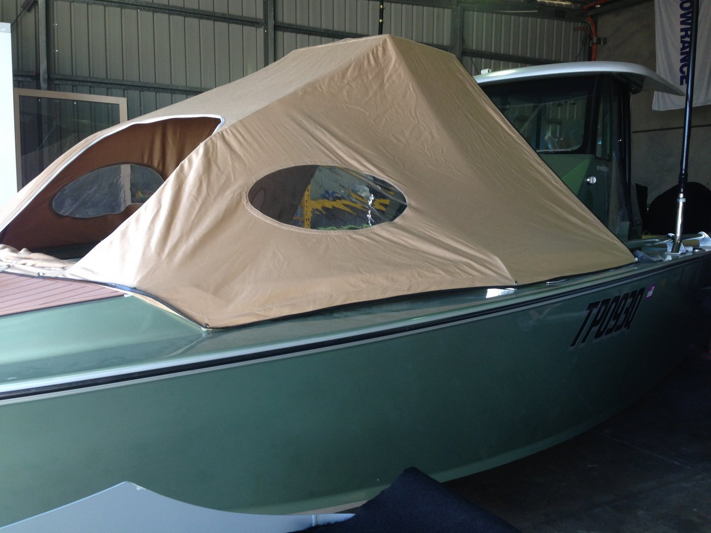 Removable bow tent