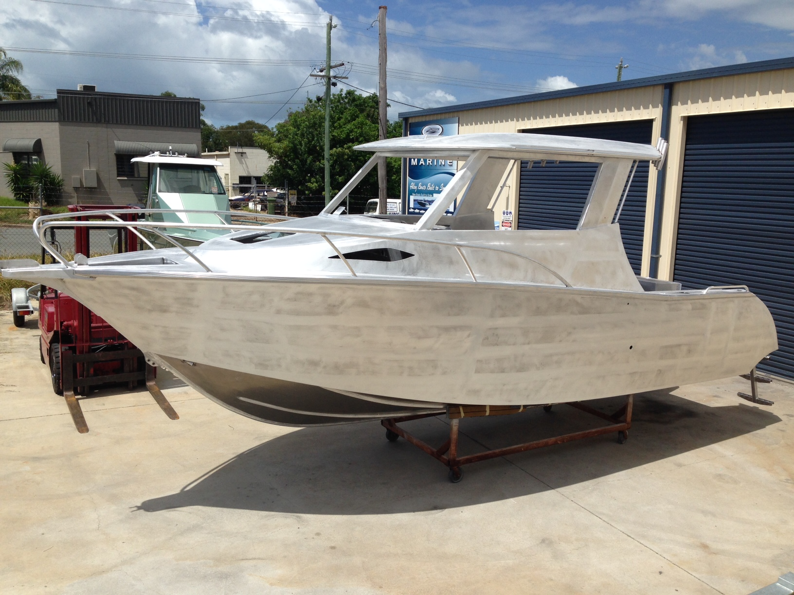 example of a completed vessel ready for paint