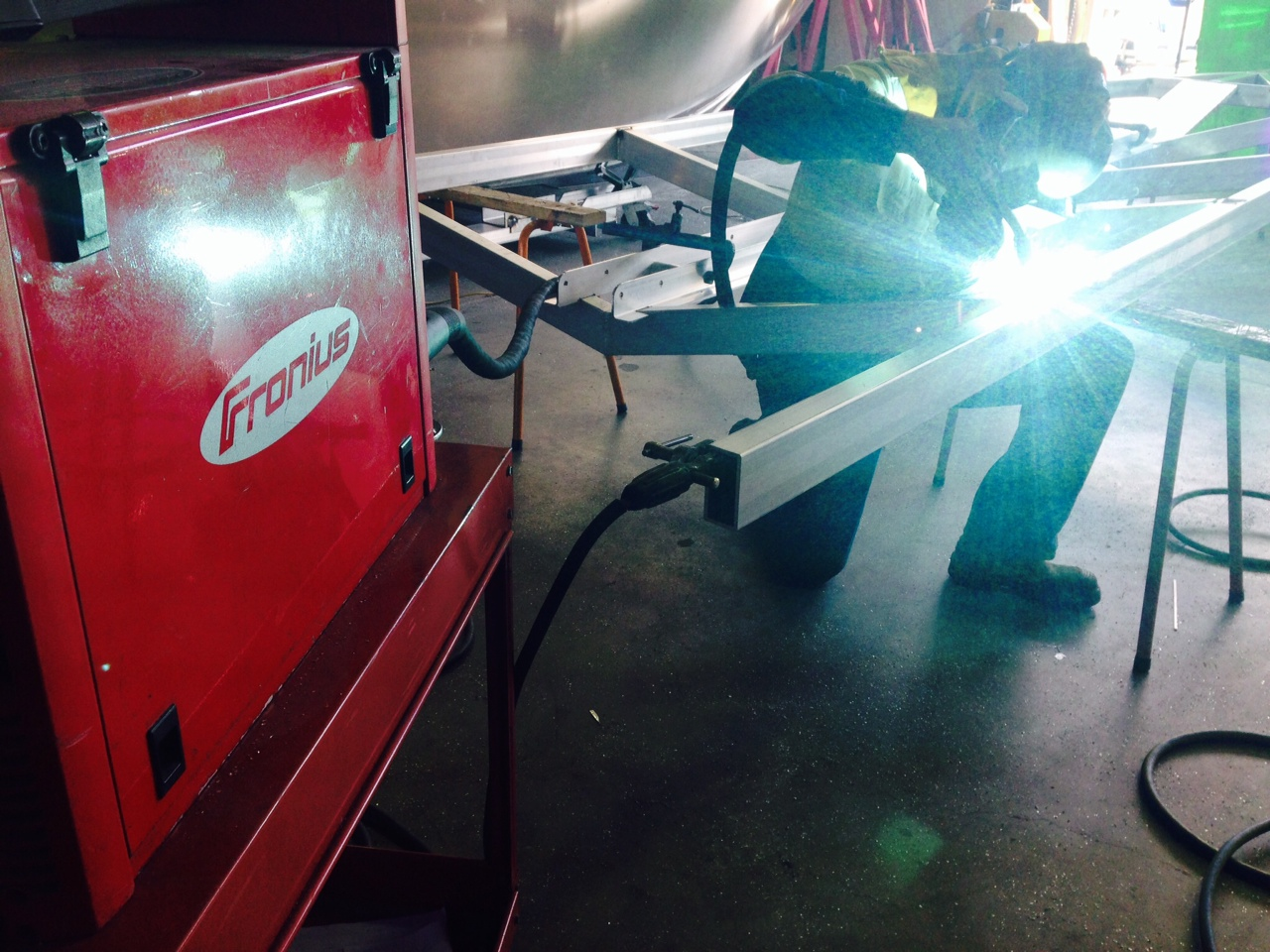 Welding process with Fronius Digital pulse